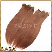 Wholesale best quality stick tape hair extension, 100% remy hair extension