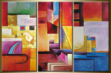 Wholesale designs for project in European abstract oil painting on canvas HT 2761