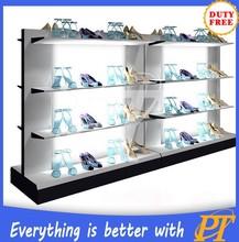 Retail shoe store furniture for shoe store display racks