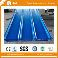 Long span 680mm width PPGI/PPGL metal coated corrugated roofing sheet