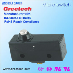 China manufacturer best quality on off UL limit light force high sensitivity Zinc micro switch for sale