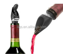 Free Shipping Silica Gel Red Wine Pour Spout Stopper Set Gift Dumping Bottle Plugger Corked Pump Seal