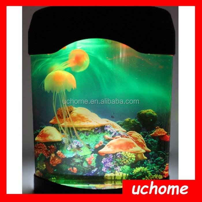 Uchome respetuoso del medio ambiente del acuario de las medusas luz