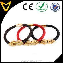Vlink Jewelry first class colorful braided skull magnetic bracelet
