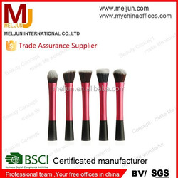 MJ 2015 New Synthetic Makeup Brushes 5 pcs face brush foundation brush put into trolley bag