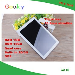 New arriver !!! 10.1 inch Quad-core IPS 1280*800 3g call tablet 16GB with sim card touch tablet slim tablet pc