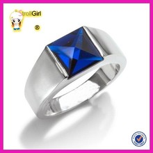 Simple comfort fit wedding band set men's sapphire wedding ring for gift