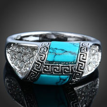 fashion silver turquoise ring wholesale J01333