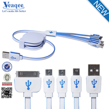 Veaqee magnetic two sided 4 in 1 usb cable