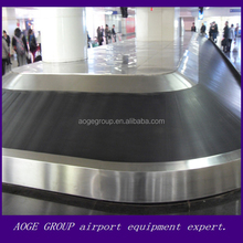 airport sloped luggage belt curve