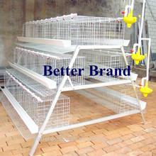 bt 2015 nueva fábrica 120 capa aves jaulas de pollo para el sur de áfrica de la granja de aves de corral