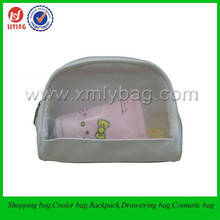 Cheap White Mesh PVC Leather Transparent Toilet Bag Wholesale