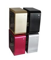 Auminum black computer case desktop micro computer case HTPCPC Case /ITX CASE/Micor case