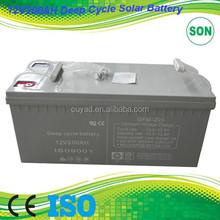 Deep Cycle battery 12v 200 ah factory quality 1ah~250ah deep cycle battery ,most popular 12v 200ah deep cycle battery