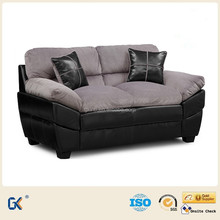 Hot sell american classic wooden leather and fabric cushion design furniture model sofa set