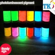 colorful photoluminescent pigment/pigment glow in dark/ glowing pigment.