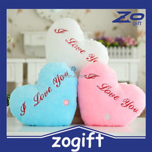 ZOGIFT bright light pillow and blanket OEM supplies with red/blue/green colorful led pillows