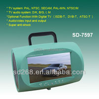 """7"""" portable boombox dvd with tv and usb,dvd tv boombox,portable boombox dvd player"""