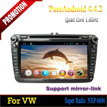 """ROM 16GB Quad-core Android 4.4 8"""" touch screen car dvd for VW Caddy 2006 2007 2008 2009 2010 2011 2012"""