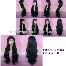 MOQ 50 PCS Manufactory High Quality Synthetic Fiber Front Lace Wig For Wholesale ITEM #SK25044