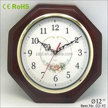 octagon wooden clocks antique with gold bezel