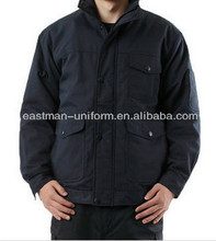 chaqueta para los hombres en el invierno ropa de trabajo negro parka de invierno chaqueta de algodón 100%.
