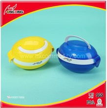 Plastic egg shape double layer kids lunch box with handle