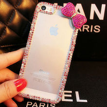 OEM Diamond PC Cell Phone Case for iPhone 5 iPhone 6 Case Colorful Rhinestone Crystal Cover