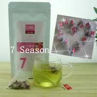 Dried Rose Bud, Rose Flower Tea in triangle pyramid tea bag