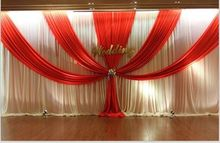 3mx6m beautiful wedding stage backdrop drapery