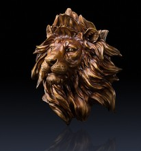Household wall decoration pendant Glory to hang like Copper lion a pure copper wall hanging lion