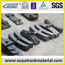 China railway fasteners suppliers cast iron brake shoes for train or wagon
