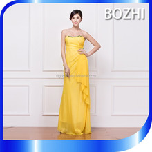 Elegant Long Off Shoulder African Evening Dress Pattern Yellow Evening Dresses Made In China Beaded