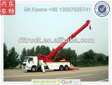 SINO truck Howo 8*4 heavy duty rotator tow truck,wrecker truck+86 13597828741