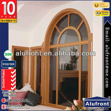 Modern Window and Door Designs with Arch and Grills China Guanghou Manufacturer Aluminum Wood Composite Windows and Doors