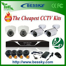 4CH CCTV Kits;CCTV Security Camera System;dvr with h.264 video loss alarm function