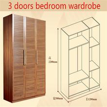 Ritz customized doors solid wood Veneer MDF high glossy bedroom wardrobe