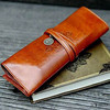 Hot Sale Fashion Folding Roll Up PU Leather Pencil Case, Vintage Makeup Bags