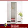Narrow slim single door steel locker cabinet / gym metal locker with hanging rods