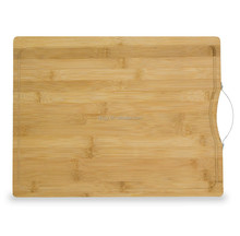 Extra Large Bamboo Cutting Board, 16x12 Thick Bamboo Carving and Chopping Station with Drip Groove and Handle