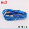 Customized Double Fast Speed Braided Fabric USB Portable Cable Adapter