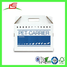 Q1336 China Alibaba Wholesale Disposable Cardboard Pet Carrier With Moisture Resistant Coating