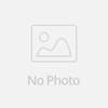 Stylish design women clothing creamy blue turtleneck sweater with slit cable-knitted sleeve women wear pullover sweater