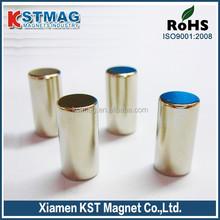 "Permanent 1/4"" x 3/4"" Nickel Plated cylinder neodymium magnet"