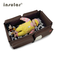 Hot products 2015 NEW portable foldable baby sleep diaper bag