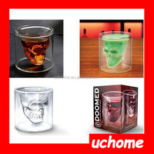 UCHOME Skull head glass cup is awesome!!! Floral Candle, Sweet Glass Mug with Handle, 75ml Skull Head plastic mini beer mug shot