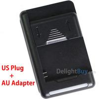 Australia AU YIBOYUAN Universal battery charger for mobile phone battery (US plug + AU adapter)