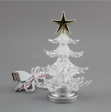Promotional USB color changing mini christmas led tree