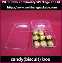Christmas plastic chocolate container/custom candy case/candy packaging box