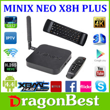 New Product MINIX NEO X8H Plus Amlogic S812 Quad Core 2GB 16GB h.265/HEVC Media HUD For Android Kitkat 4.4
